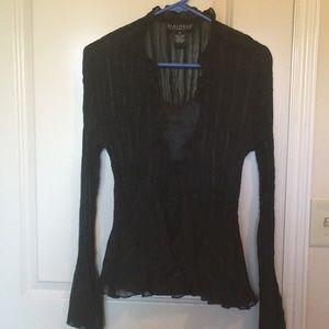 Tops - Sheer Victorian Blouse & Cami- black